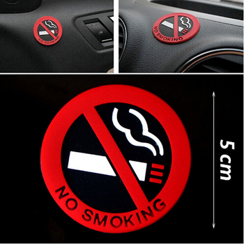 Universal Warning No Smoking Logo Car Stickers for lada granta kalina vesta priora largus 2110 niva 2107 2106 2109 vaz samara image
