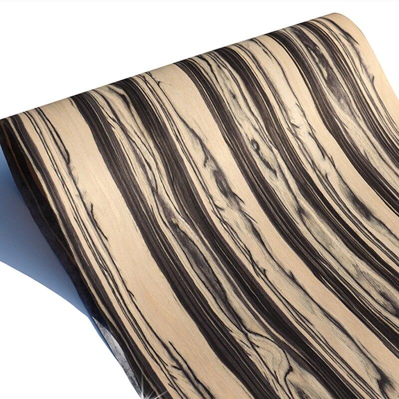 Technical Veneer Sliced Wood Engineering Veneer E.V. White Black Ebony 62cm X 2.5m Q/C