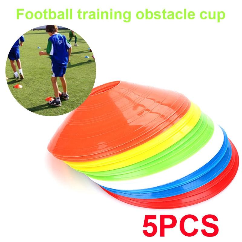 Convenient Marking Beginner Marker Cones Football Training  Barrier Prop Lawn Court PE 5pcs Soccer Marker Disc Skating