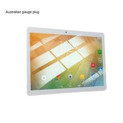 Tableta de agujero redondo KT107 de 10,1 pulgadas HD de pantalla grande Android 8,10 versión de moda tableta portátil 8G + 64G tableta blanca