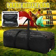 Viagem de acampamento ao ar livre grandes sacos duffle à prova doxford água oxford dobrável bagagem bolsa de armazenamento mochila dos homens bolsa tote 97/130/180l