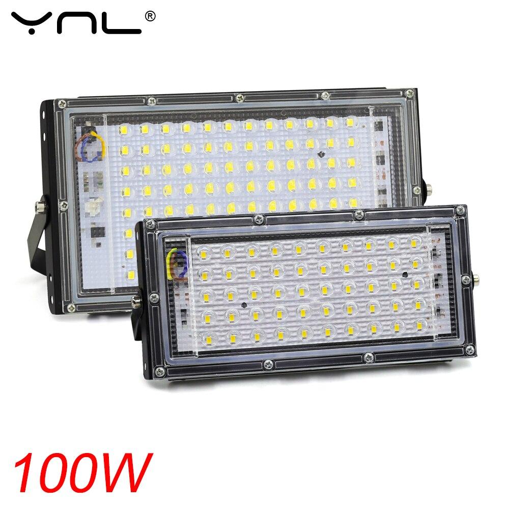 100 Вт 50 Вт Светодиодный прожектор Водонепроницаемый IP65 AC 220 В 230 в 240 В отражатель светодиодный прожектор Наружное освещение Прожектор светод...