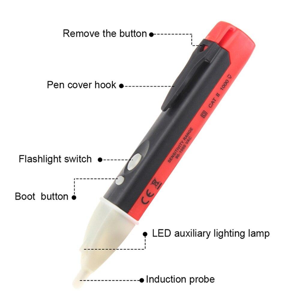 Индикатор 90-1000V настенная розетка детектор напряжения в розетке Сенсор тестер ручка светодиодный светильник