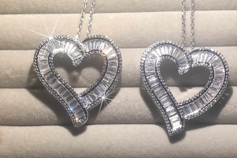 Piedra Corazón Collar Cadena Colgante Plata Esterlina 925 Mujeres Niña Joyeria Regalo