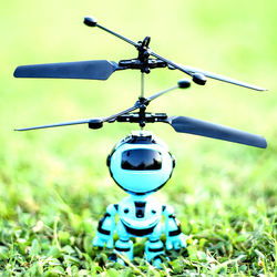 Crianças ao ar livre rc helicóptero com luz led infravermelho indução zangão presente quadcopter robô design voando mini controle de mão brinquedos