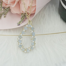 Fashionable creative lady necklace hot selling triangle polygon beach summer for ladies birthday gifts