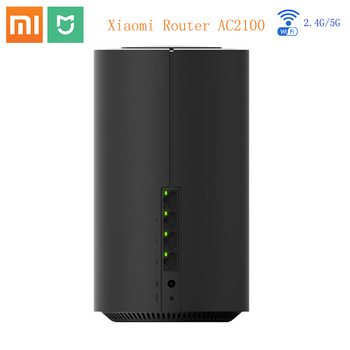 Xiaomi Mi mihome Router AC2100 2.4GHz 5GHz 1733Mbps Mi WiFi Repeater Gigabit Ethernet Port WiFi 128Mb Dual Core CPU APP Control