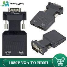 Wvvmvv 1080P/720P Vga Naar Hdmi-Compatibel Converter Kabel Adapter Audio Vermogen Voor Hdtv Monitor projector Pc Laptop TV-BOX P