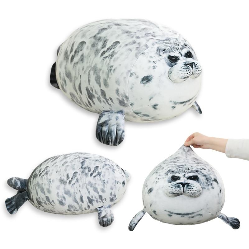 1 Pc 30-60cm Cute Sea Lion Plush Toys Soft Marine Animal Seal Stuffed Doll For Kids Gift Sleeping Pillow 3D Novelty Throw Pillow
