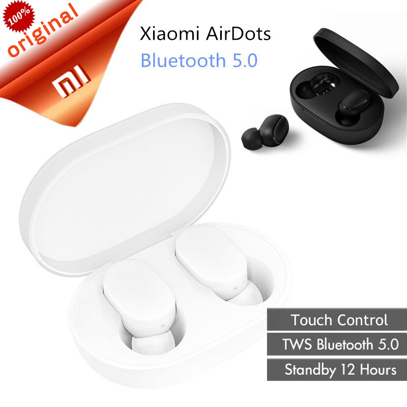 Original Xiaomi AirDots TWS Bluetooth Earphone Mini True Wireless Bluetooth 5 0 Headset With Mic Earbuds