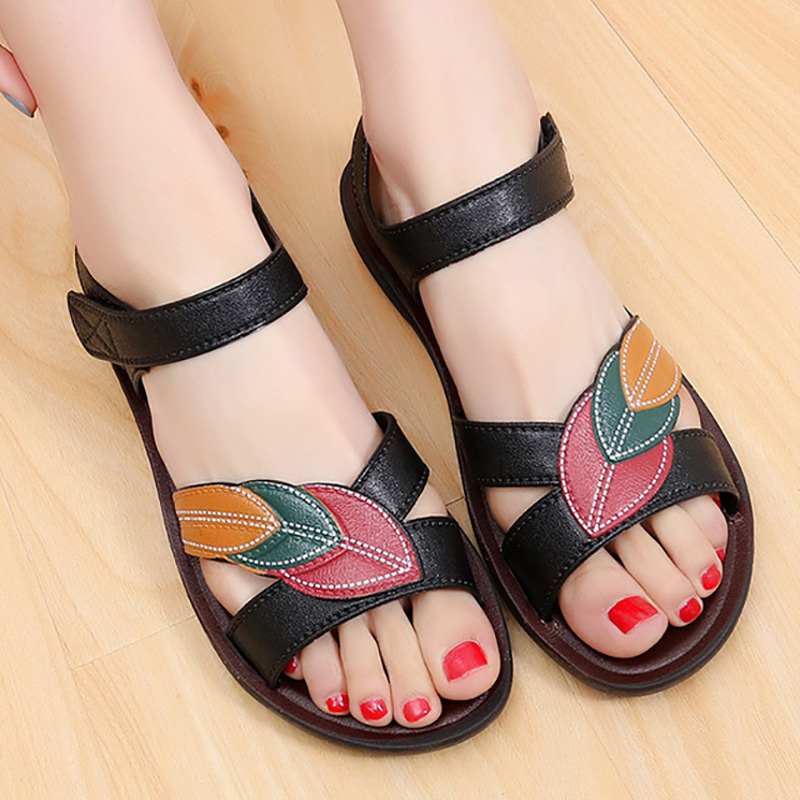 Free Shipping Women Sandals Soft Bottom Women Shoes Slip-on Mother Shoes Comfort Wedge Sandals Shoes Woman Sandalie Footwear