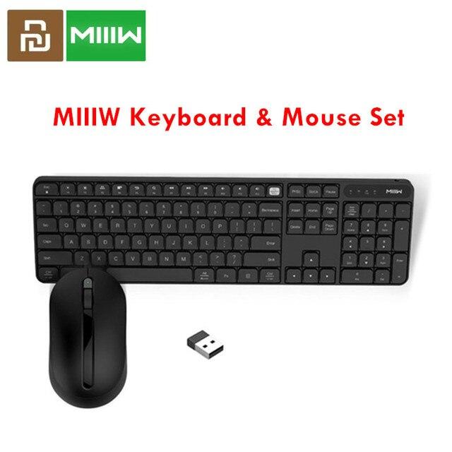 Original MIIIW 2.4GHz Wireless Office Keyboard Mouse Set 104 Keys for xiaomi Mouse Windows Mac Waterproof Portable USB Keyboard