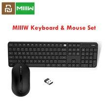 Original MIIIW 2.4GHz sans fil bureau clavier ensemble de souris 104 touches pour xiaomi souris Windows Mac étanche Portable USB clavier