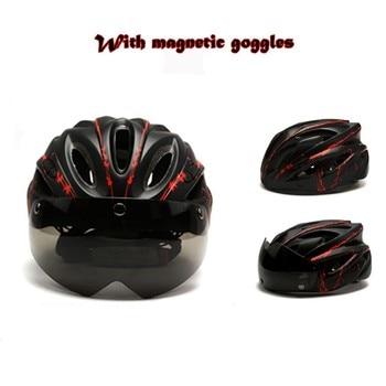 Ciclismo bicicleta equitação óculos de sucção magnética mtb bycicle scooter capacete chapéu segurança ao ar livre casque cabeça triathlon boné