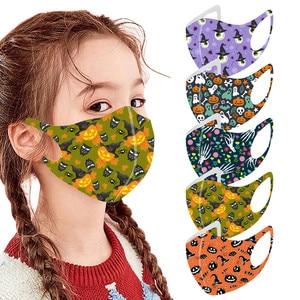 1 шт., детская маска для рта на Хэллоуин, защитная маска для лица, моющаяся маска для ушей, удобная маска для маскарада, маска для лица, mondmasker masque