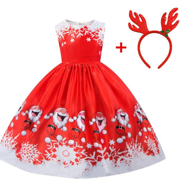 Silk red little girl santa dress 3-10 years