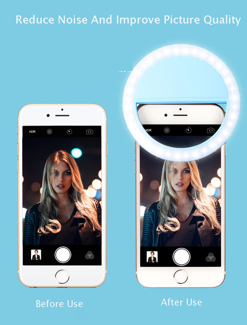 Pink 36LED Selfie Night Light With 3 levels Lighting Night For Cell Phone Photo Lights 6