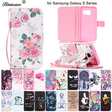 Capa flip com carteira para iphone, capa para samsung s8 s9 plus s7 iphone 6 6s bolsas para celular 7 8 plus