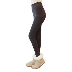 Image 2 - 2020 moda feminina calças de inverno leggings plus cashmere sexy calças quentes super elástico falso veludo inverno grosso calças finas