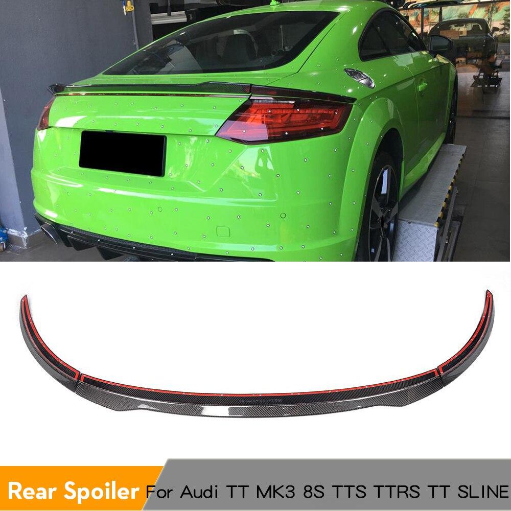 Спойлер заднего багажника, крыла Boot губ для Audi TT MK3 Тип 8S TTS TTRS TT SLINE Coupe 2 дверь 2015 2017 углеродное волокно/FRP