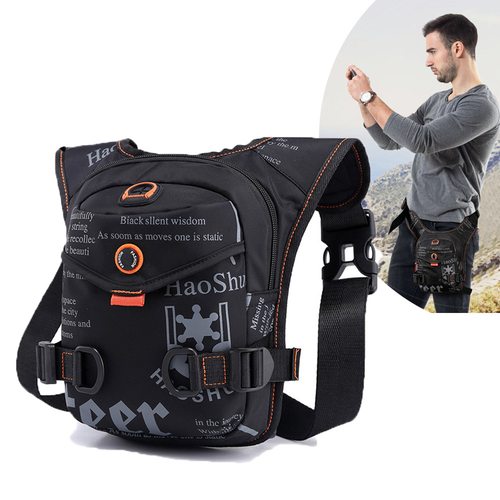 Men Waterproof Crossbody Bag Hunting Accessories Tactical Drop Leg Bag Waist Nylon Motorcycle Pocket