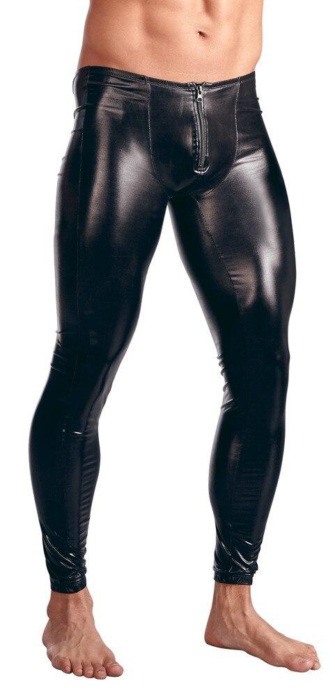 Сексуальный мужской комбинезон из искусственной кожи для мужчин, облегающий боди, комбинезон на молнии спереди с открытой промежностью, латексный костюм зентай, 3XL - Цвет: N930