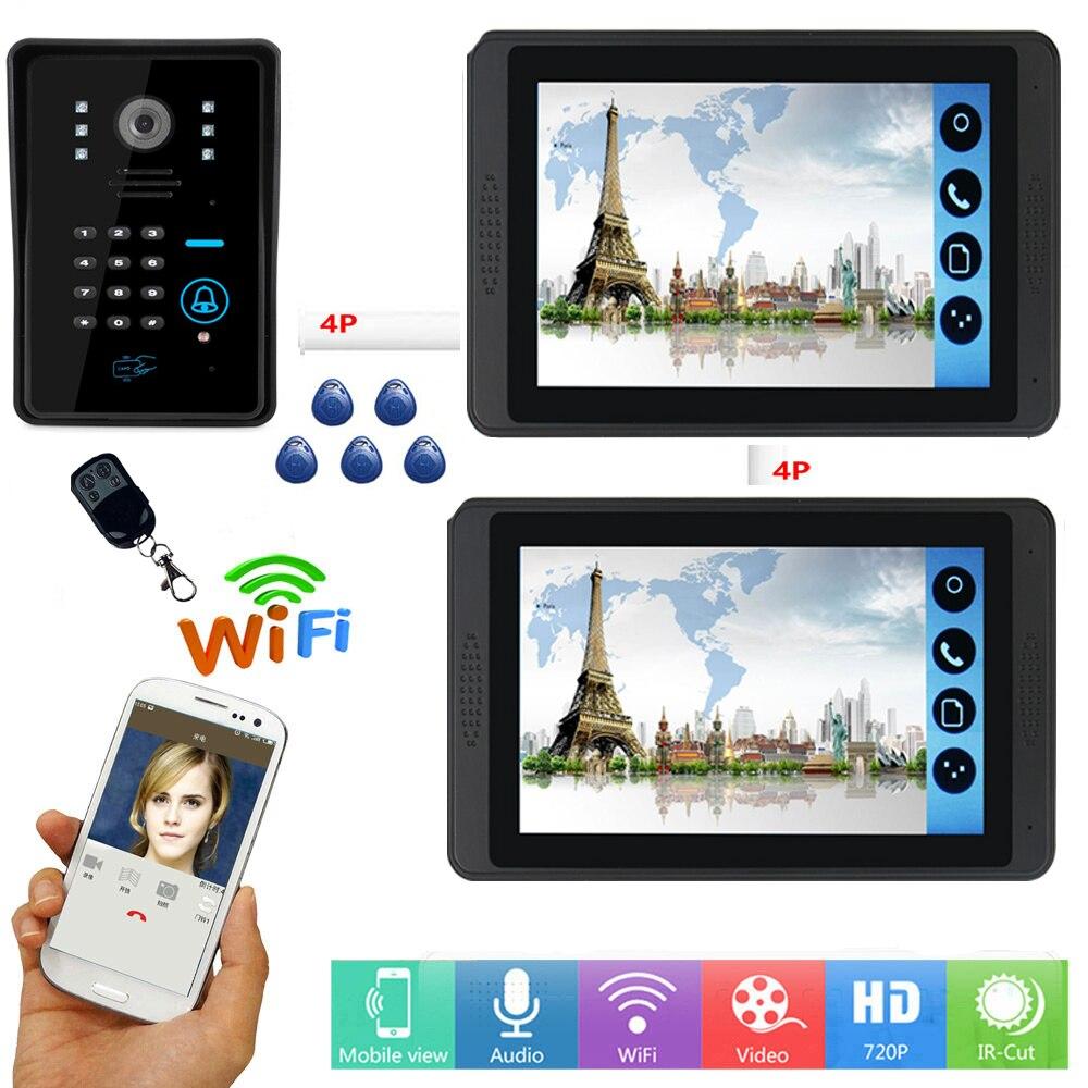 SmartYIBA Video Intercom 7 Inch Monitor Wifi Wireless Video Door Phone Doorbell Intercom RFID Password Camera System APP Control