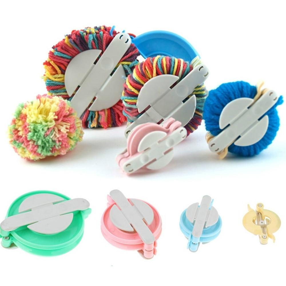 4pcs Pompom Maker Wool Ball Maker Pompon Wool Plush Ball Set Needle Yarn Knitting Wool Tool  Weave Utensil