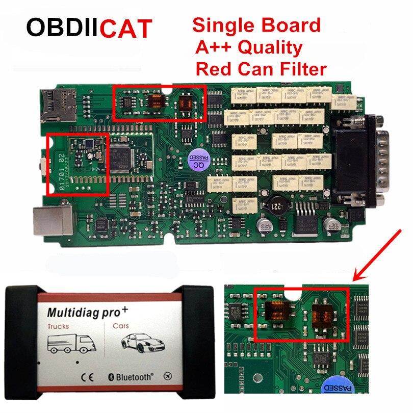 2017,3 новейший с keygen A + качество одной платы Multidiag Bluetooth tcs OBDIICAT сканер OBD2 диагностический сканер для автомобиля и грузовика