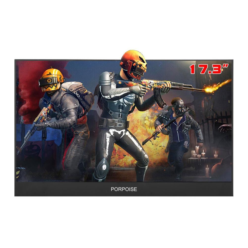 Multi-Funzione di Comodo IPS da 17.3 pollici di 178 ° Ad alta definizione HDMI Portatile Display 1080p Avanzata di Monitoraggio schermo PS3/PS4/XBOX