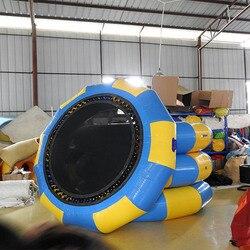 Blau und Gelb Aufblasbare wasser spielzeug 2,5 m Trampaulin für wasserpark spiele