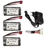 7,4 V 3300MAH batería de lipo de 18650 2S para Q46 Wltoys 12427, 12428, 12423, 12401 12402A 12403 12404 FY-03 FY01 FY02 piezas de repuesto de coche teledirigido