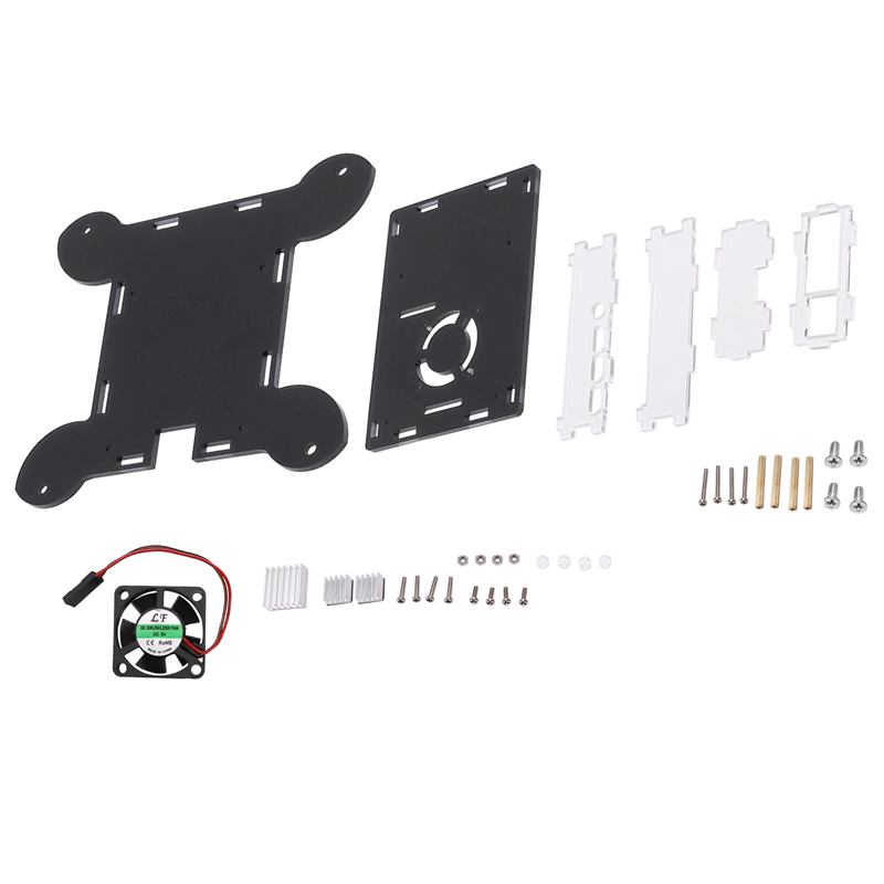 For Raspberry Pi 4B 4 Model B Case Wall-Mountable With Fan And Cooling