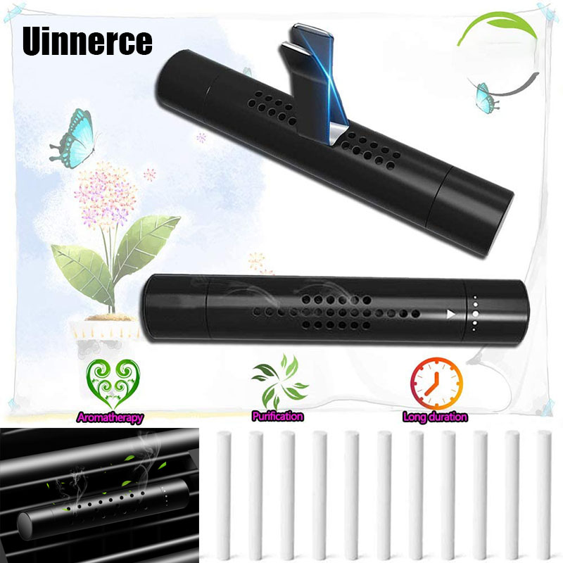 Car Air Freshener Smell In The Car Styling Vent Perfume Parfum Flavoring For Auto Outlet Clip With 5 Free Aroma Stick Fragrance