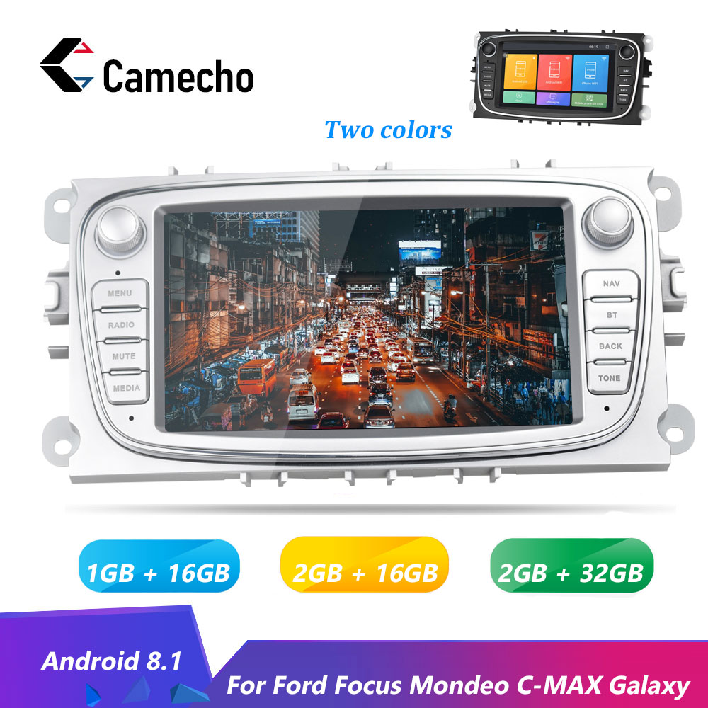 Camecho Android 8.1 GPS Auto Multimedia Player 2DIN 7''Autoradio Auto <font><b>Radio</b></font> Wifi Auto-Player Für <font><b>Ford</b></font>/<font><b>Focus</b></font>/S- max/Mondeo/Galaxy image