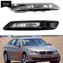 Auto frente esquerda direita para-choque montado marcador lateral canto folha placa luz para bmw série 5 f10 f11 f18 2011 2012 2013 preto branco
