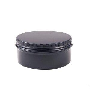 Image 2 - 24Pcs 50g Metal Aluminum Round Tin Cans Box Black Empty Cosmetic Cream Jar Pot Case Screw Thread Lid Lip Balm Container