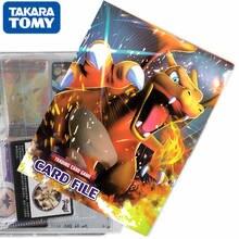 TAKARA TOMY 240 sztuk Pokemon karty Album kolekcja Binder gra animowana pojemność karty Folder załadowany List Holder zabawki dla dzieci