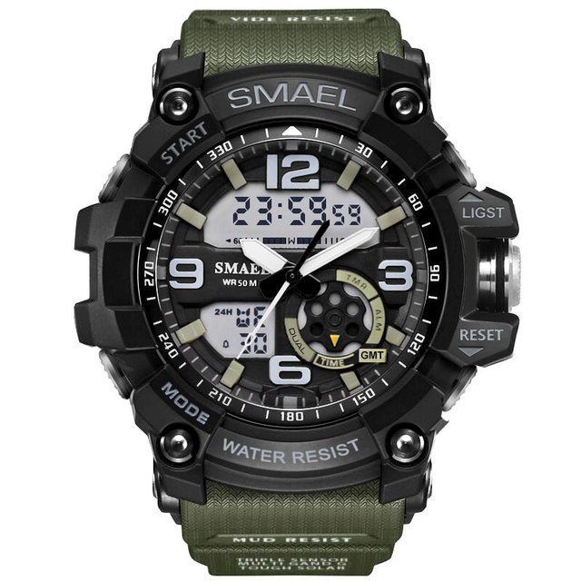 2019 Luxury Brand Sport Watch Men LED Analog Digital Watch 50M Waterproof Army Military Watches Men's Casual Quartz Wristwatch