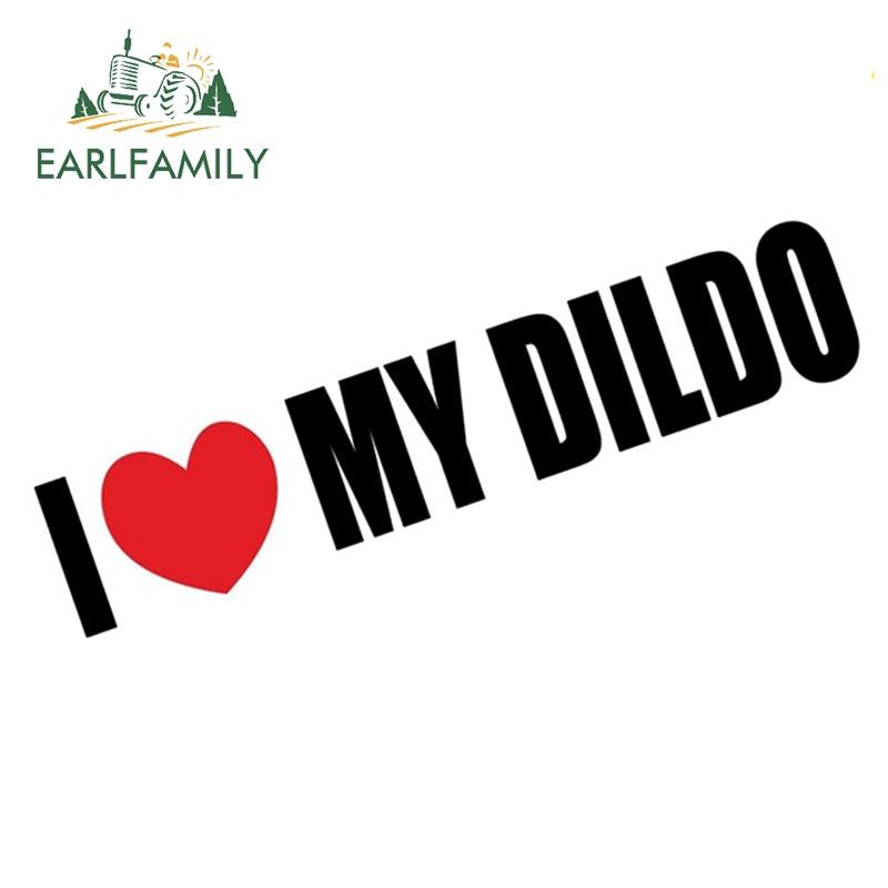 EARLFAMILY 15 см Виниловая наклейка с надписью «I Love My Dido» для шуточного автомобиля мотоцикла, графическая наклейка, забавная наклейка для розыгры...