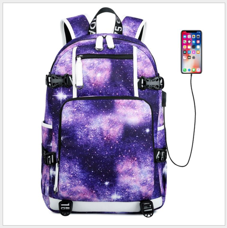 New Graffiti Backpack School Bags For Boys Teenage USB Laptop Backpacks Collage Cool Backpack Galaxy Large Daypack Mochila