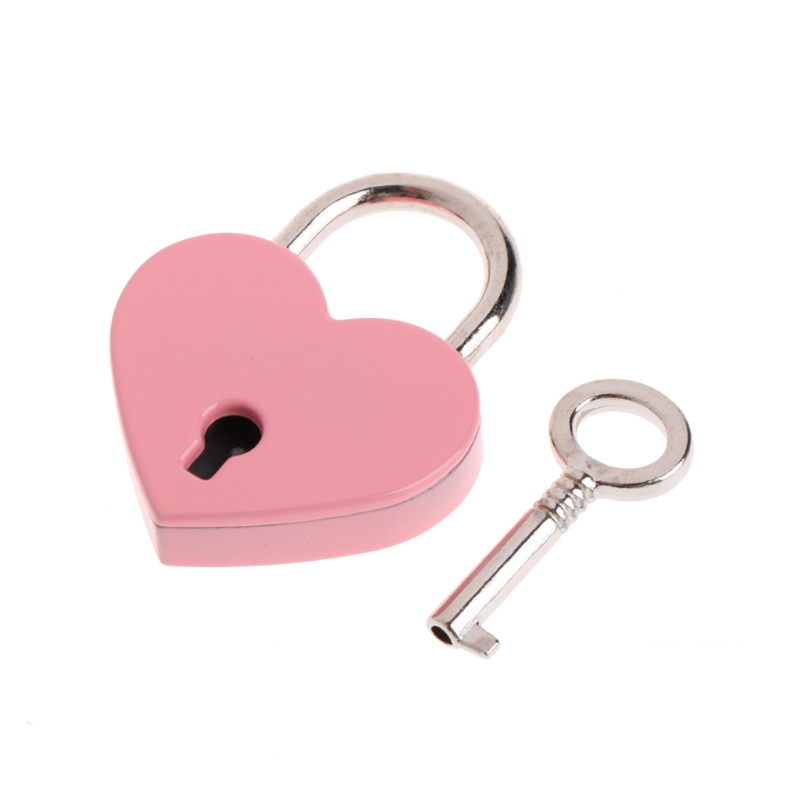 Heart Shape Vintage Old Antique Style Mini Archaize Padlocks Key Lock With key