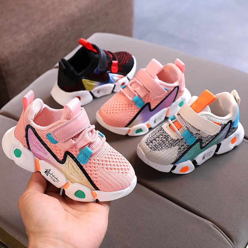 Spring Kids Shoes Baby Boys Girls Children's Casual Sneakers Breathable Soft Anti-Slip Running Sports Shoes Size 21-30