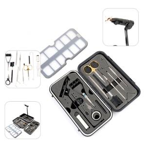 Image 1 - Mosca compacta que amarra o sistema de torno voar que amarra a ferramenta conjunto pesca equipamento kit para o viajante