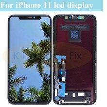 Klasa AAA + + + dla iPhone 11 wyświetlacz LCD z ekranem dotykowym 3D wymiana zespołu Digitizer dla iPhone11 A2221 A2111 wyświetlacz lcd