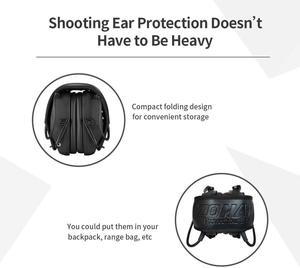 Image 4 - ZOHAN Electronic Earmuff NRR22DB Ear Cup for Single Microphone Hunting Earmuffs Tactical Shooting Hearing Protection Replacement