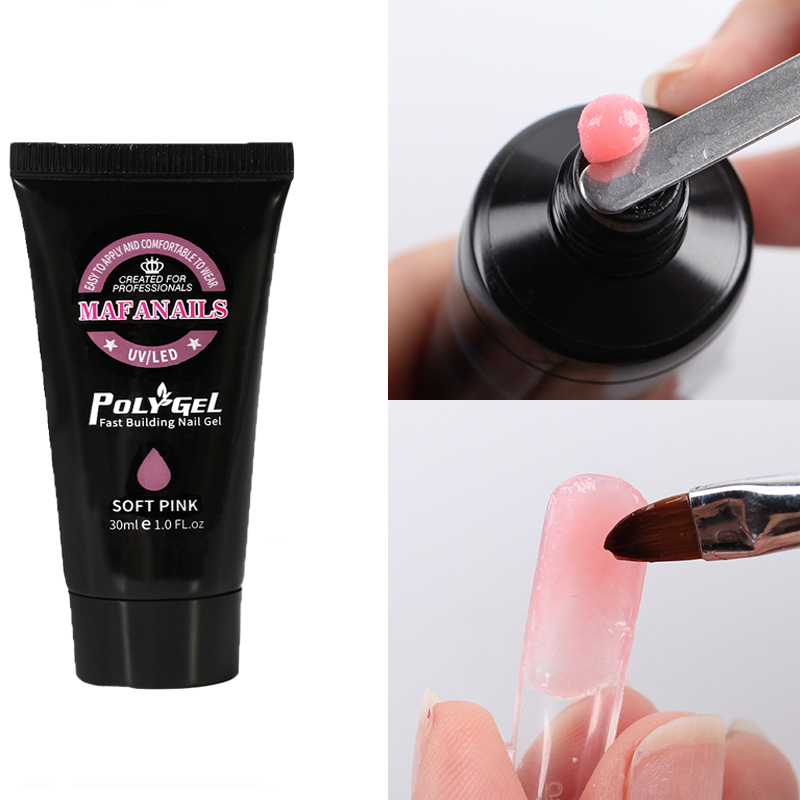 30ML/box Soak Off Builder Poly Gel 9 Colors Acrylic Fast Extend UV GY06 For Nail Art Tips #1PCS
