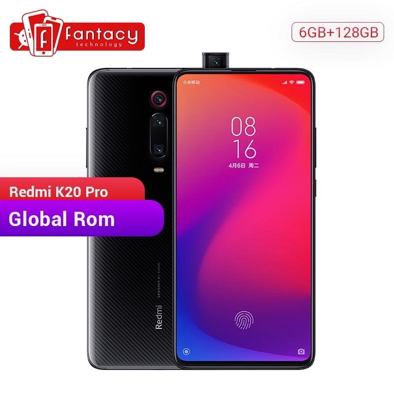 "Original xiaomi redmi k20 pro 6 gb 128 gb snapdragon 855 octa núcleo smartphone 6.39 ""amoled display 48mp triplo câmera 4000 mah"