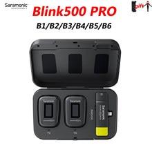 Saramonic-micrófono condensador Blink500 Blink 500 Pro, B3, B4, B5, B6, B1, B2, inalámbrico, para teléfono Android, IPhone, cámara