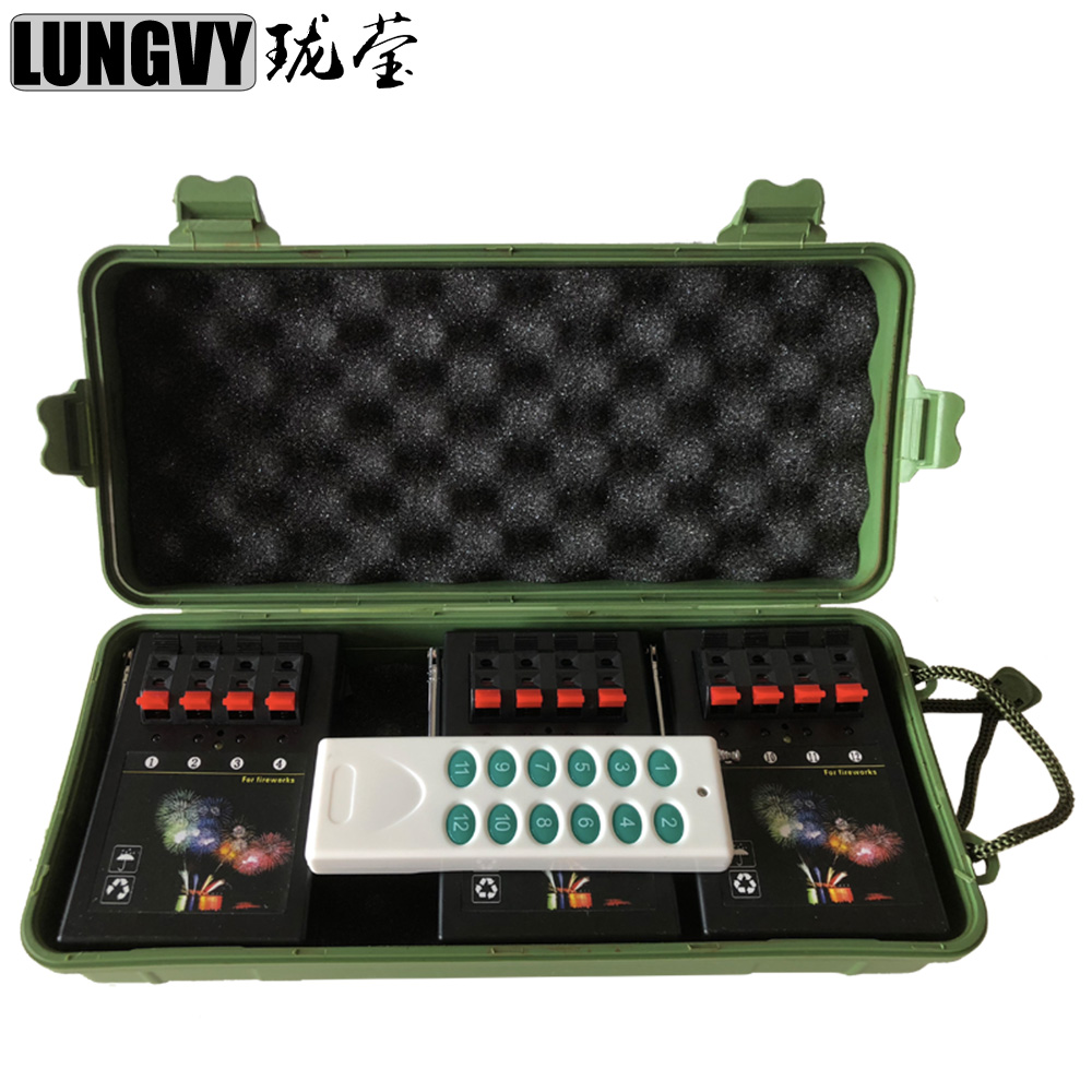 Free Shipping AM04R-3 Wireless Remote Control 3 Receivers 4 Cues 12 Channel Electric Ignition Pyro Mini Machine Indoor Stage